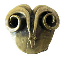 Carl Tasha Bronze Aries Astrological Rams Head Belt Buckle