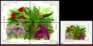 17-1213 BRAZIL 2017 FLOWERS OF ATLANTIC FOREST, AROMATIC STAMPS, UNUSUAL, MNH