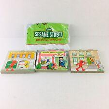 Elmos Neighborhood Sesame Street Lot of 4 Books & Street Play Mat New