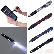 3 in 1 Multifunction Capacitive Touch Screen Stylus Flashlight Ball Point Pen