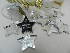 Personalised Stars, Favours, Table Decorations, Favours,Weddings, Baby, Parties