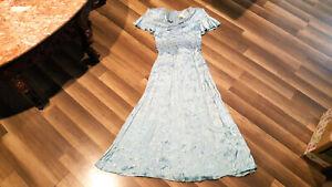 VTG Fredericks of Hollywood women's floral light blue size 3-4 dress NWOT.