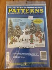 Santa's Elves woodworking pattern by Winfield yard art full size