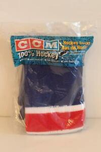 NEW Old Stock CCM Boys Ice Hockey Socks New York Rangers 2 Color Styles Avail