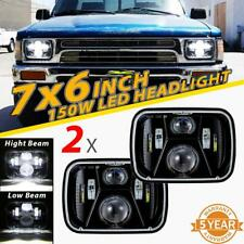 "2x 150W 7x6"" 5X7 LED Headlights Hi/Lo Sealed Beam for Toyota Nissan Pickup Truck"