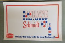 Lot of 50 Vintage SCHMIDT BEER Paper PLACE MATS Advertising - Unused! (TH19-28)