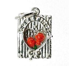 Plata Esterlina apertura Rosas tarjeta de saludos encanto