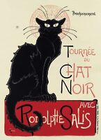 Collection du Chat Noir by Theophile Steinlen 16x24-Inch Canvas Wall Art