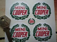 MINI COOPER Garland Wheel Centre Style STICKERS 44mm Set of 4 BL Rover Triumph