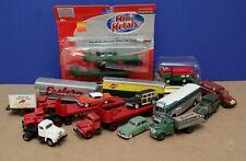 Lot of 15 CMW Mini Metals HO 1:87 Cars,  Bus, Semi Stake & Box Trucks Trailers