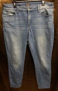 NYDJ Women's Blue Ami Skinny Legging Jeans Plus Size 14