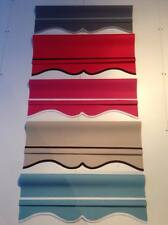 Roller blinds MADE TO MEASURE Modern/Scalloped Grey Red Pink Sand Blue COLONIAL