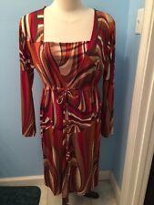 Urban Mango Women's Dress SZ Large, Long Sleeve, Geometric Print NWT