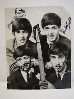 THE BEATLES VINTAGE PHOTOGRAPH RADIO TIMES SIGNED ORIGINAL 60s