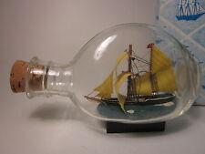 """SHIP IN A BOTTLE Schooner Model Miniature #469A w/Box Free US Shipping 5"""""""