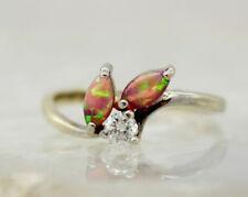 Fire Opals Birthday Oval Fine Gemstone Rings