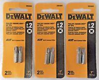 Dewalt DW2602 #2 Phillips Square Drive Bit Tip 3 (2 Packs)