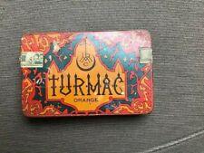 Turmac orange blik doos boite metal box tabac cigarettes