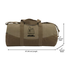 """Snoopy Dog House Two Tone 19"""" Duffle Bag with Brown Bottom and Detachable Strap"""