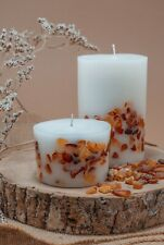 HANDMADE candle with BALTIC AMBER