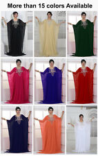 Varigated Color Dubai Style Arab Moroccan Farasha Kaftan Maxi Dress Gown Top N31