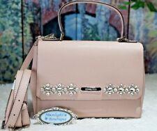 Michael Kors CALLIE JEWEL Medium Top Handle Satchel In BALLET PINK Leather $328