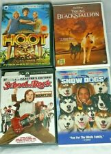 Four Family Movies Disney Snow Dogs, School of Rock, Hoot, You Black Stallion