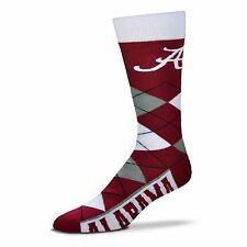 NCAA Alabama Crimson Tide Argyle Unisex Crew Cut Socks - One Size Fits Most