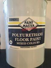 GREY POLYURETHANE GARAGE/WORKSHOP FLOOR PAINT 5 LT