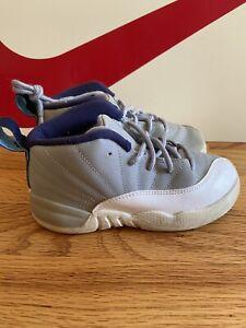 Air Jordan 12 Grey University Blue Retro Size 10C Nike Off White Union Shattered