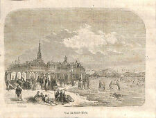 SAINT-MALO VUE GRAVURE ILLUSTRATION 1864