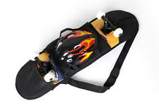 82*22cm Black Skateboard Carry Bag Skate Travel Backpack Straps Case With Mesh