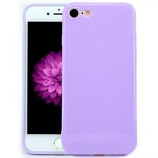 For iPhone 5 6 8 7 X Plus Back Cover Slim Soft Gel TPU Silicon Glossy Phone Case