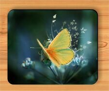 BUTTERFLY YELLOW WINGS INSECT MOUSE PAD -hjg6Z