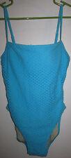Victoria's Secret Aqua Turquoise Over-Knit One Piece Swimsuit 10B