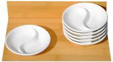 White Yin Yang Dishes 10cm x 6