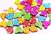 50x Cartoon panda Wooden Bead decoration Baby Crafts/&Pacifier Clip Necklace 15mm