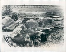 1939 Soviet Soldiers With High Powered Rifles Maneuvers Press Photo