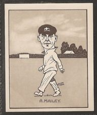 HILL-CARICATURES OF FAMOUS CRICKETERS (LARGE CARD)-#10- NEW SOUTH WALES - MAILEY