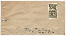 Italy Scott #C96 on Cover to Chicago