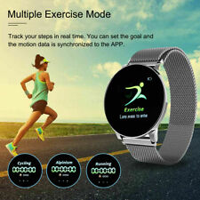 Smart Watch Fitness Tracker IP67 Touch Control Blood Pressure Heart Rate FAST UK