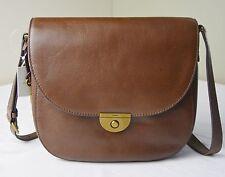 Fossil Emi Large Brown Leather Saddle Crossbody Messenger Bag