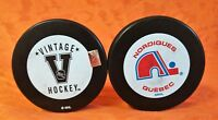 Vintage Hockey Quebec Nordiques - NHL Official Hockey Puck - SHIPS  FREE to USA