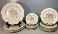 Edwin M Knowles China Co Gold Trimmed Plates (Lot Of 20)