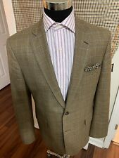Brooks Brothers Mens 43L  Glen Plaid Blazer Jacket Sport Coat