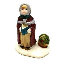 Christmas Village Figurine Lemax Caroling Lady Porcelain 2 1/4 in H