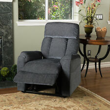 Edenton 2 Toned Charcoal Fabric Lift Up Recliner Chair