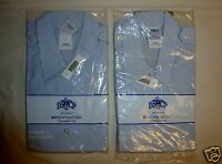 2 USAF AIR FORCE BLUE DSCP Uniform DRESS SHIRT Womens 18 Regular Long Sleeve NEW