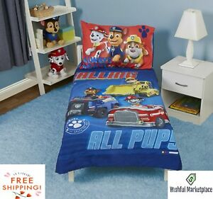 4-Piece Machine Washable Comfortable Toddler Bed Set Multicolor Free Shipping