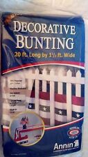 Annin All Purpose Decorative Bunting Flag Runner 20 ft Long NEW Made in USA